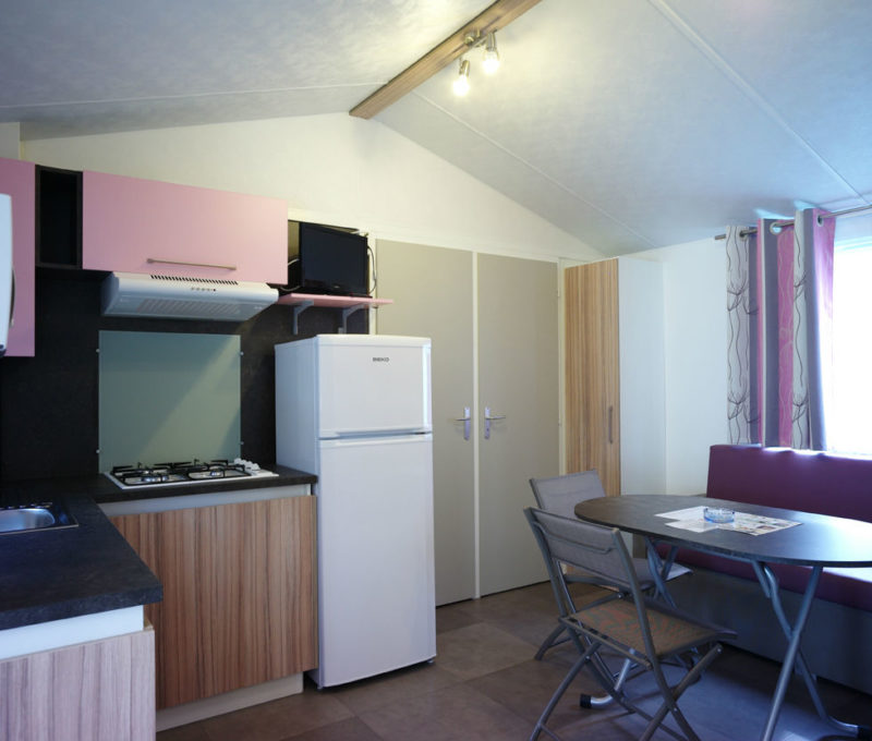 Location mobilhome 6 personnes : cuisine